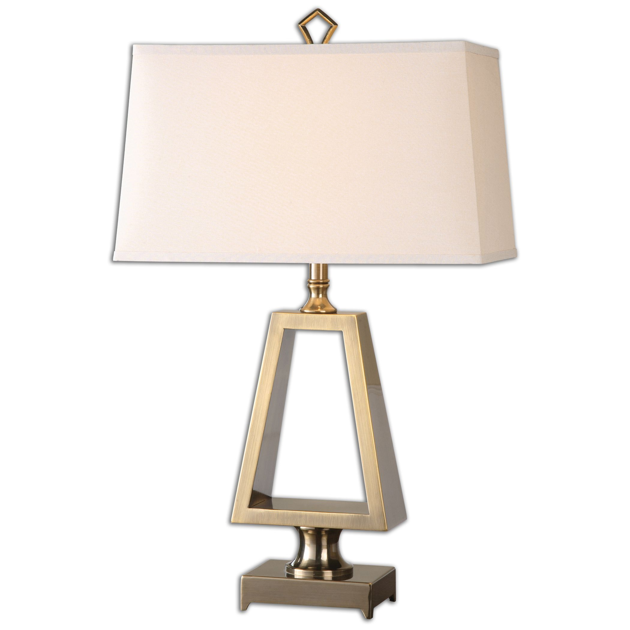 cream white pyramid chelsea lamp house gold alabaster and